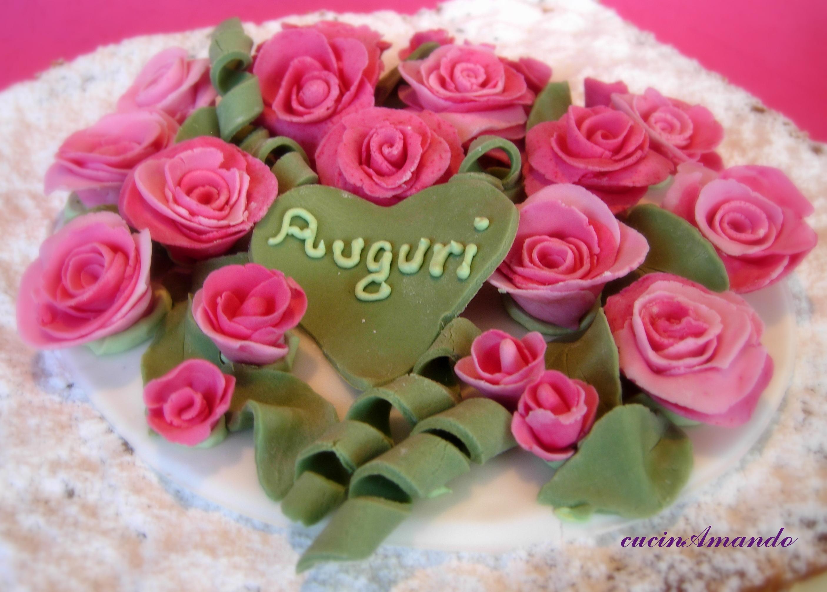 Fabuleux Torta diplomatica con rose di zucchero | cucinAmando LM65