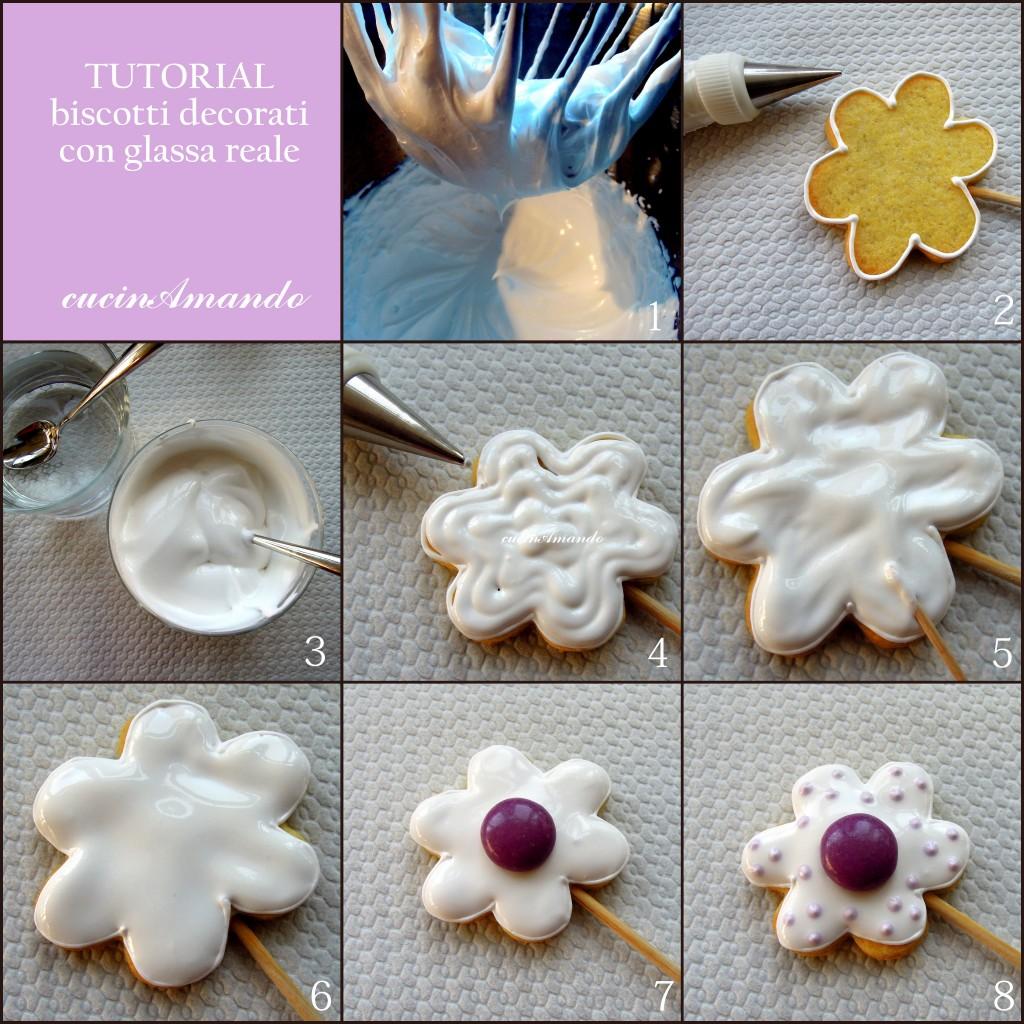 decorazioni glassa reale per torte: la dolce rosa di monte ... - Decorazioni Con Biscotti
